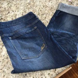 Express Jeans, Capris boyfriend low rise 14